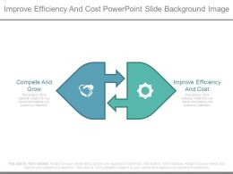 Improve Efficiency And Cost Powerpoint Slide Background Image
