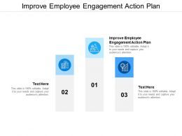 Improve Employee Engagement Action Plan Ppt Powerpoint Presentation Styles Format Ideas Cpb