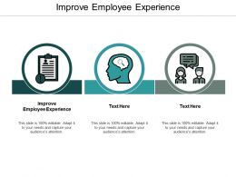 Improve Employee Experience Ppt Powerpoint Presentation Ideas Design Templates Cpb