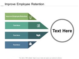 Improve Employee Retention Ppt Powerpoint Presentation Layouts Infographics Cpb