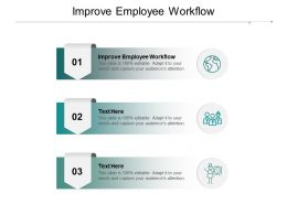 Improve Employee Workflow Ppt Powerpoint Presentation Professional Samples Cpb