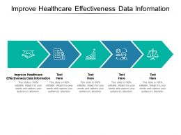 Improve Healthcare Effectiveness Data Information Ppt Powerpoint Presentation Ideas Cpb