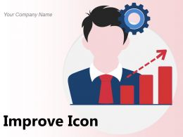 Improve Icon Analytics Graph Business Increase Performance Growth Evaluation Gears