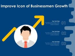 Improve Icon Of Businessmen Growth
