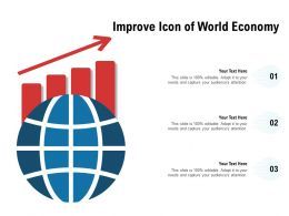 Improve Icon Of World Economy