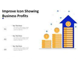 Improve Icon Showing Business Profits