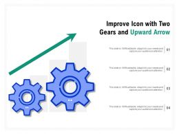 Improve Icon With Two Gears And Upward Arrow
