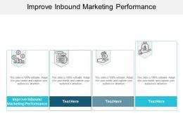 Improve Inbound Marketing Performance Ppt Powerpoint Presentation Styles Ideas Cpb