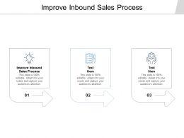 Improve Inbound Sales Process Ppt Powerpoint Presentation Styles Elements Cpb