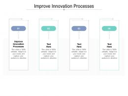 Improve Innovation Processes Ppt Powerpoint Presentation Outline Ideas Cpb
