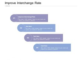 Improve Interchange Rate Ppt Powerpoint Presentation Infographic Template Design Inspiration Cpb