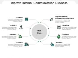 Improve Internal Communication Business Ppt Powerpoint Presentation Pictures Themes Cpb