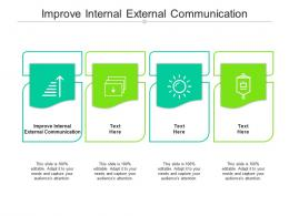 Improve Internal External Communication Ppt Powerpoint Presentation File Icons Cpb