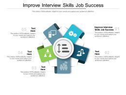Improve Interview Skills Job Success Ppt Powerpoint Presentation Portfolio Design Templates Cpb