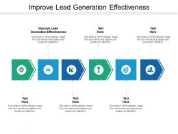 Improve Lead Generation Effectiveness Ppt Powerpoint Presentation Ideas Deck Cpb