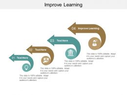 Improve Learning Ppt Powerpoint Presentation Gallery Shapes Cpb
