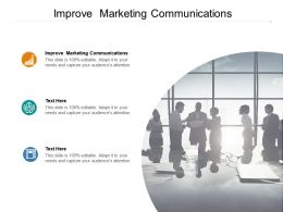 Improve Marketing Communications Ppt Powerpoint Presentation Pictures Example Cpb
