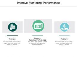 Improve Marketing Performance Ppt Powerpoint Presentation Styles Inspiration Cpb