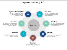 Improve Marketing Roi Ppt Powerpoint Presentation Gallery Portfolio Cpb