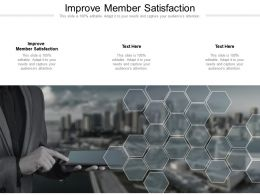 Improve Member Satisfaction Ppt Powerpoint Presentation Inspiration Format Cpb