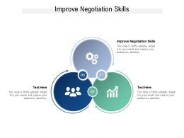 Improve Negotiation Skills Ppt Powerpoint Presentation Professional Good Cpb