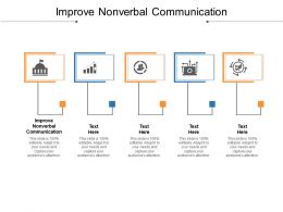 Improve Nonverbal Communication Ppt Powerpoint Presentation File Deck Cpb