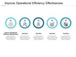 Improve Operational Efficiency Effectiveness Ppt Powerpoint Presentation Outline Brochure Cpb
