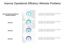 Improve Operational Efficiency Minimize Problems Ppt Powerpoint Presentation Styles Clipart Cpb