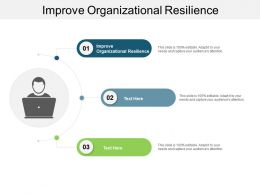 Improve Organizational Resilience Ppt Powerpoint Presentation Model Show Cpb