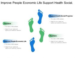 Improve People Economic Life Support Health Social Progress
