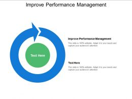 Improve Performance Management Ppt Powerpoint Presentation Icon Influencers Cpb