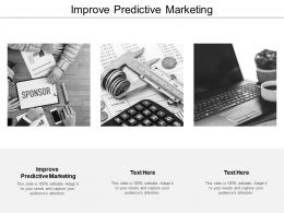 Improve Predictive Marketing Ppt Powerpoint Presentation Professional Layout Ideas Cpb