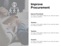 Improve Procurement Ppt Powerpoint Presentation Infographic Template Show Cpb
