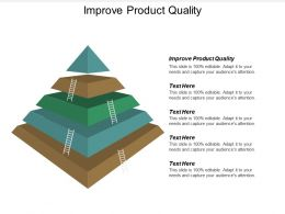 Improve Product Quality Ppt Powerpoint Presentation Icon Template Cpb