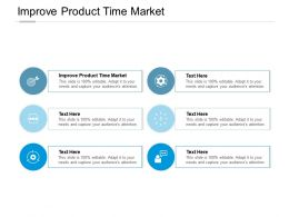 Improve Product Time Market Ppt Powerpoint Presentation Inspiration Images Cpb