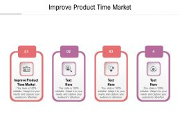 Improve Product Time Market Ppt Powerpoint Presentation Visual Aids Outline Cpb