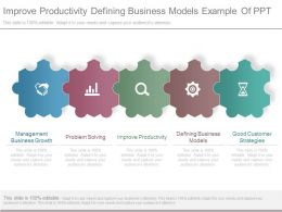 Improve Productivity Defining Business Models Example Of Ppt