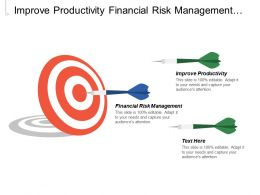 Improve Productivity Financial Risk Management Budget Pms Improvements