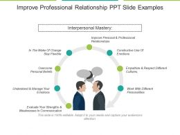 Improve Professional Relationship Ppt Slide Examples