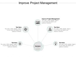 Improve Project Management Ppt Powerpoint Presentation Styles Good Cpb