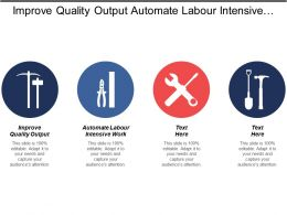Improve Quality Output Automate Labour Intensive Work Intensive Work
