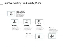 Improve Quality Productivity Work Ppt Powerpoint Presentation Model File Cpb