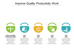 Improve Quality Productivity Work Ppt Powerpoint Show Demonstration Cpb