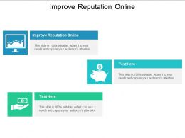 Improve Reputation Online Ppt Powerpoint Presentation Inspiration Design Templates Cpb