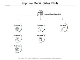 Improve Retail Sales Skills Ppt Powerpoint Presentation Inspiration Portfolio Cpb