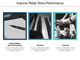Improve Retail Store Performance Ppt Powerpoint Presentation Pictures Templates Cpb