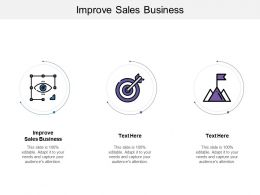 Improve Sales Business Ppt Powerpoint Presentation Icon Guide Cpb