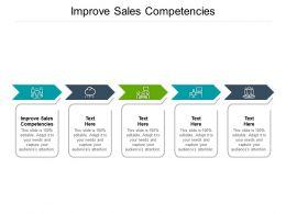 Improve Sales Competencies Ppt Powerpoint Presentation Inspiration Templates Cpb