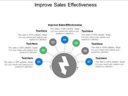 Improve Sales Effectiveness Ppt Powerpoint Presentation Outline Elements Cpb