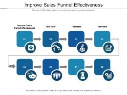Improve Sales Funnel Effectiveness Ppt Powerpoint Presentation Professional Inspiration Cpb